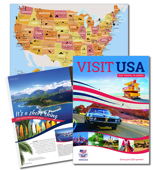 A free 72 page guide full of things to do and see in America